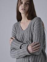 [softissue] V Neck Wool Knit - Grey
