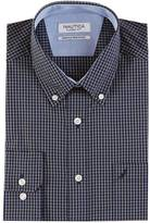 Nautica Classic Fit Wrinkle Resistant Windowpane Plaid Shirt