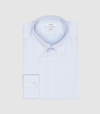 Reiss Redsnap Slim - Slim Fit Button Down Shirt in Soft Blue