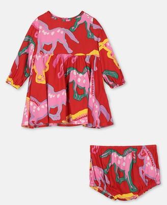 Stella Mccartney Kids Stella McCartney horses viscose twill dress
