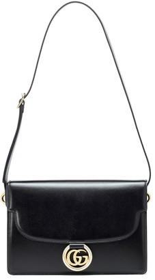Gucci GG Ring Medium leather shoulder bag