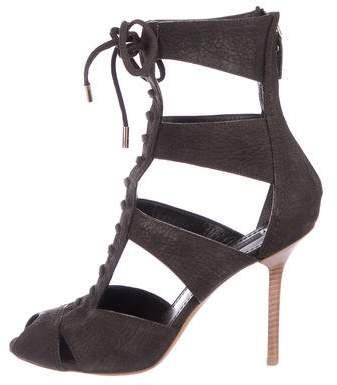 Louis Vuitton Suede Caged Sandals