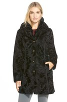 Laundry by Shelli Segal Women's Reversible Faux Persian Lamb Fur Coat