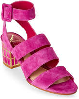 Brian Atwood Cosmo Pink Baily Caged-Heel Sandals