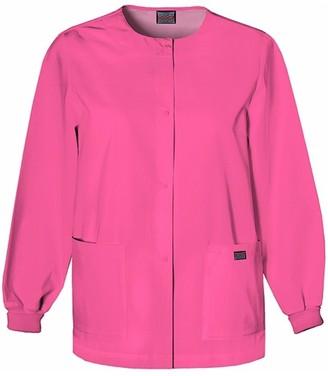 Cherokee Women's Snap Front Long Sleeve Warm-Up Jacket