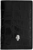 Alexander McQueen Black Croc Pocket Organizer