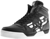 Armani Jeans Hi Top Logo Trainers Black