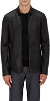 Giorgio Armani Men's Bonded Leather Shirt Jacket