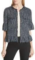 Kate Spade Flounced Sleeve Tweed Jacket