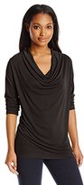 NYDJ Women's Drape Cowl Neck Tee with Fit Solution