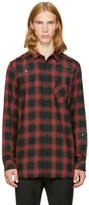 Diesel Red and Black Plaid S-prof Shirt