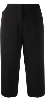 Versace O-ring cropped trousers