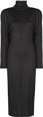 Isabel Marant Genia puff-sleeve midi dress