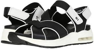 Earth Kushma (Black Softy Printed/Ribbon) Women's Sandals
