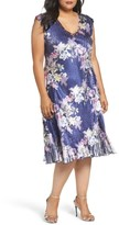 Komarov Plus Size Women's Floral Print Charmeuse Dress