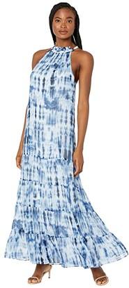 Lauren Ralph Lauren Karmina Sleeveless Day Dress (Navy/Blue/Multi) Women's Dress