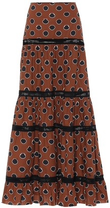 Johanna Ortiz Printed cotton maxi skirt