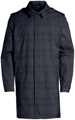 Corneliani Point Collar Plaid Raincoat