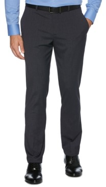 Perry Ellis Men's Tonal Check Slim-Fit Dress Pants