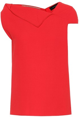 Roland Mouret Raywell wool-crepe top