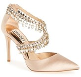 Badgley Mischka Women's 'Glamorous' Crystal-Embellished Pointy Toe Pump