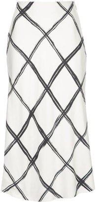 Jason Wu Collection Criss Cross Print Skirt