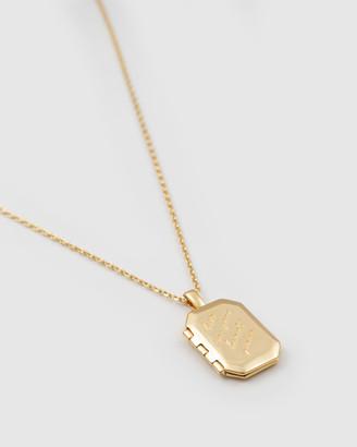 Wanderlust + Co Heart Space Gold Locket Necklace