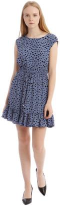 Tokito Random Spot Draw Waist Print Dress Lt