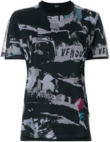 Versus perforated collage print T-shirt
