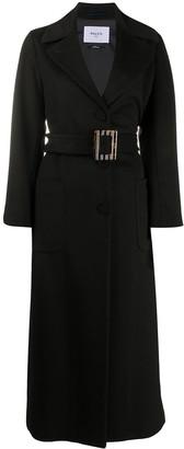 Paltò Isabella longline belted coat