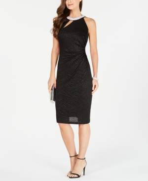 MSK Halter Cutout Sheath Dress