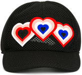 Fendi heart patch cap - women - Polyester - S
