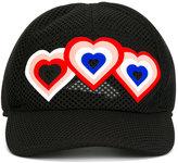 Fendi heart patch cap