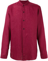 Z Zegna band collar shirt - men - Linen/Flax - S