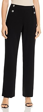 Calvin Klein Wide-Leg Button-Front Pants