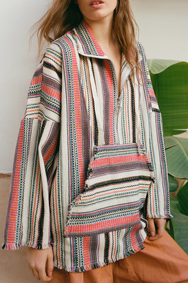 Urban Outfitters Striped Popover Half-Zip Jacket