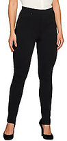 Walter View by Baker View By Baker Petite Ponte Slim Pant Pants with Faux Leather Trim