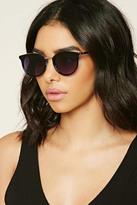 Forever 21 FOREVER 21+ Metal Trim Oval Sunglasses
