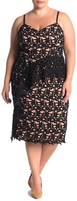 City Chic Illustrious Lace Dress (Plus Size)