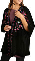 Umgee USA Velvet Floral Kimono