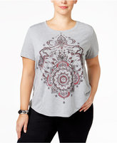 Style&Co. Style & Co. Plus Size Medallion T-Shirt, Only at Macy's
