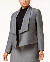 Nine West Plus Size Flyaway Jacket