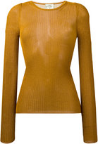 Forte Forte ribbed detail jumper - women - Viscose/Metallized Polyester - 1