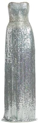 Jenny Packham Mirabelle Strapless Sequin Gown