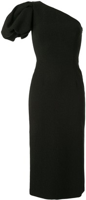 Rebecca Vallance Natalia One Sleeve Midi dress