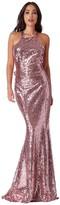 Goddiva Bow Detail Sequin Maxi Dress