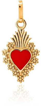 Tane Exquisitely Detailed Heart My Love Charm In 18K Gold & Ceramic