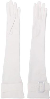 Manokhi Long Buckled Gloves
