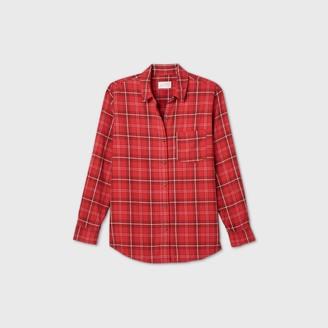 Universal Thread Women's Plaid Long Sleeve Button-Down Shirt - Universal ThreadTM