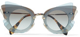 Miu Miu Cat-eye Acetate Sunglasses - Gray